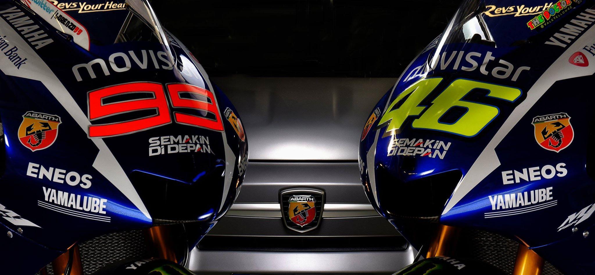 Abarth, sponsor Yamaha MotoGP