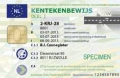 Kentekenbewijs is nu een chipkaart