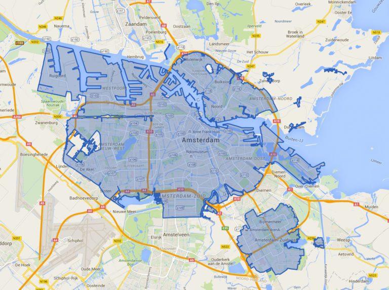 Milieuzone Amsterdam kaart