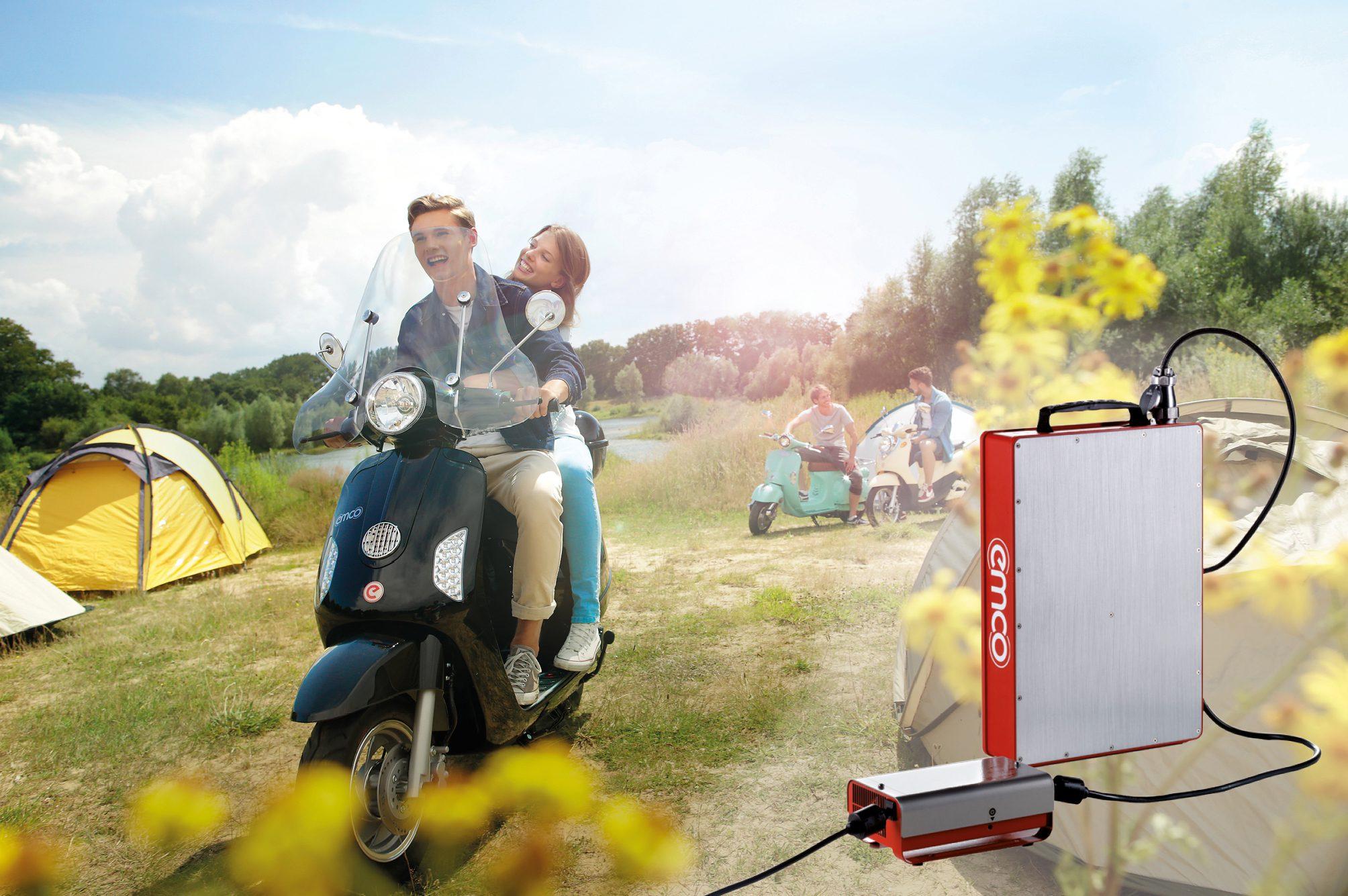 Nieuwe li-ion accu voor Emco scooters