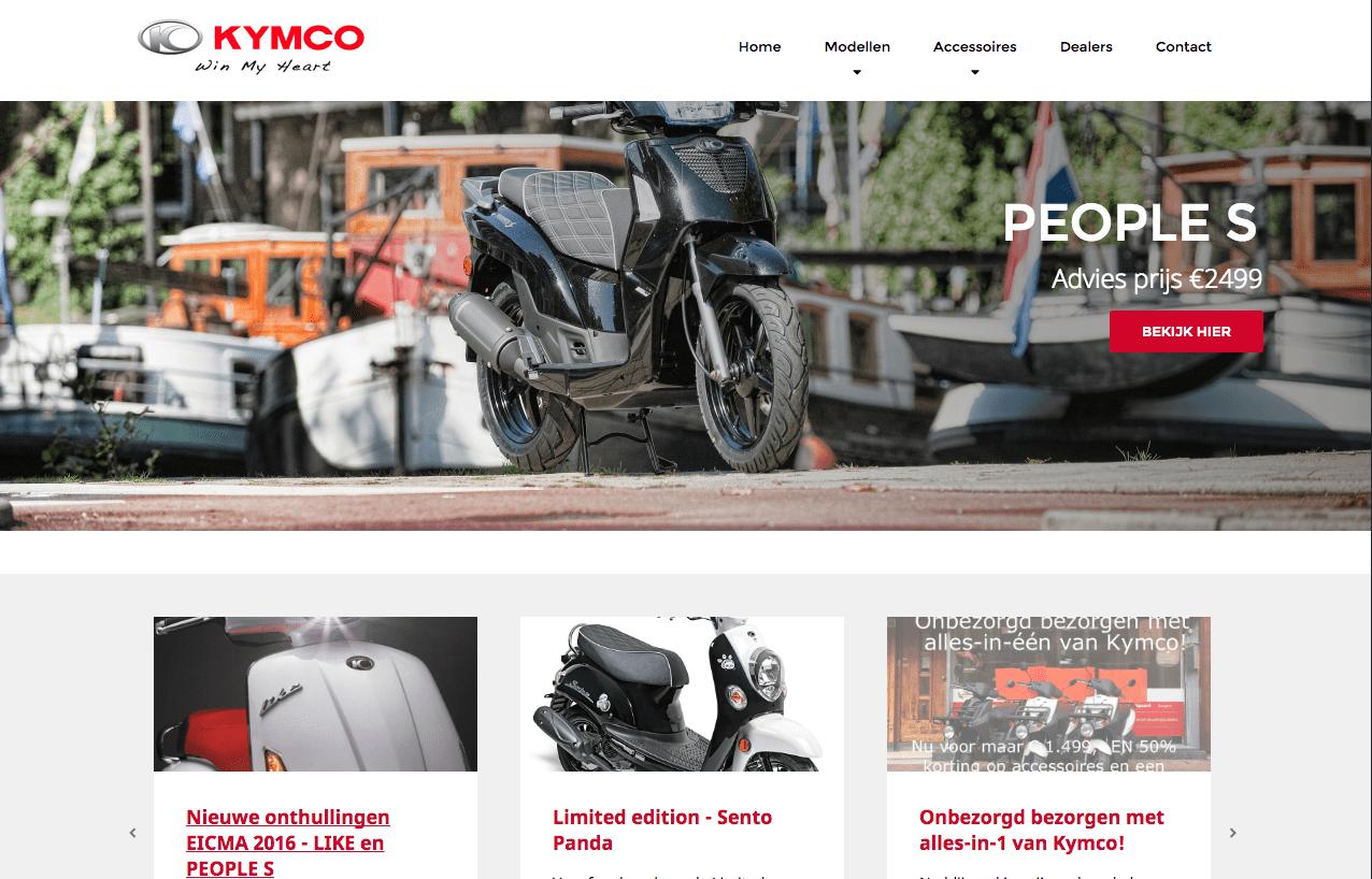 nieuwe Nederlandse website Kymco.nl