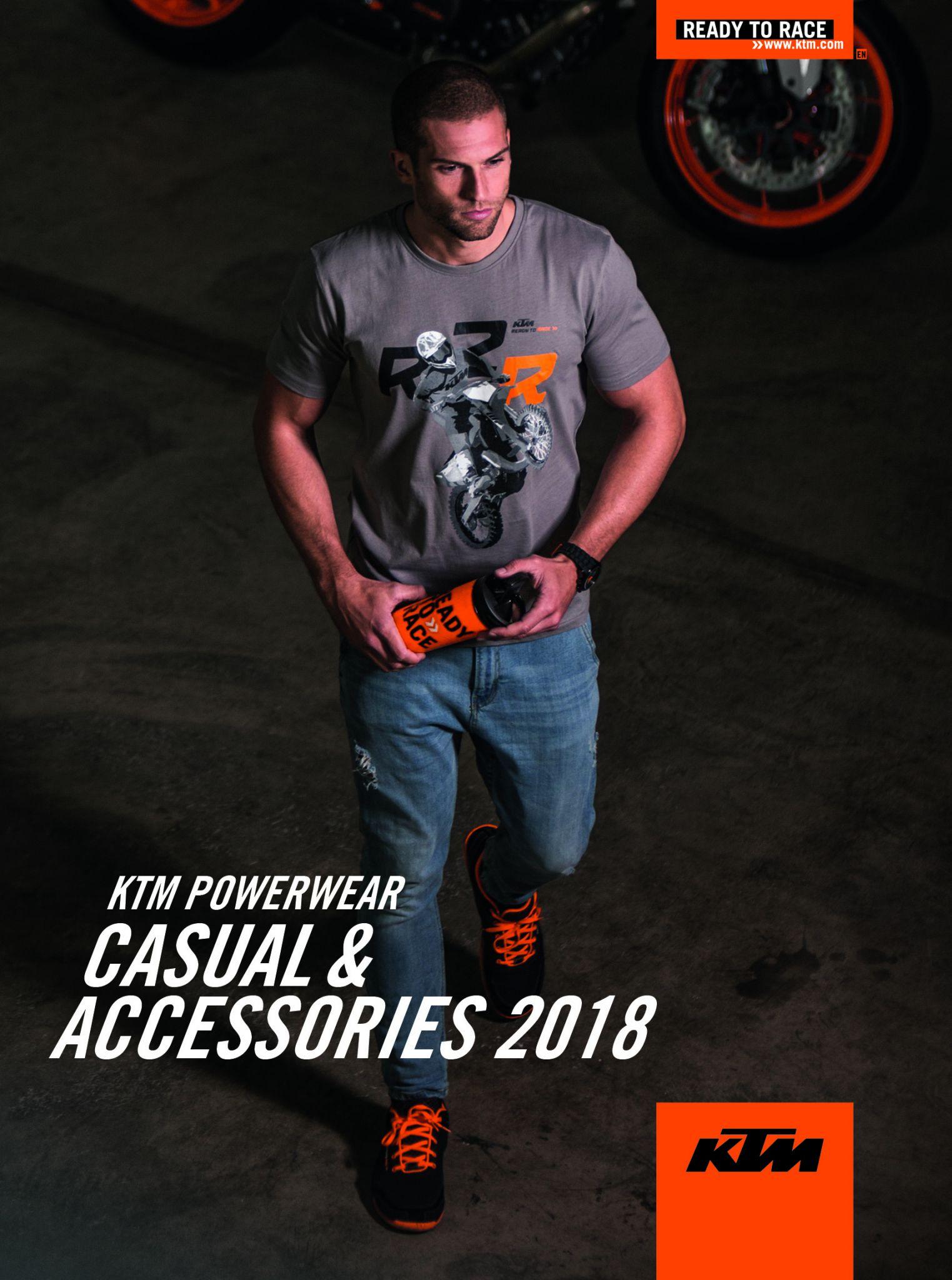KTM INTRODUCEERT DE 2018-LIJN VAN POWERWEAR 'CASUAL AND ACCESSORIES'
