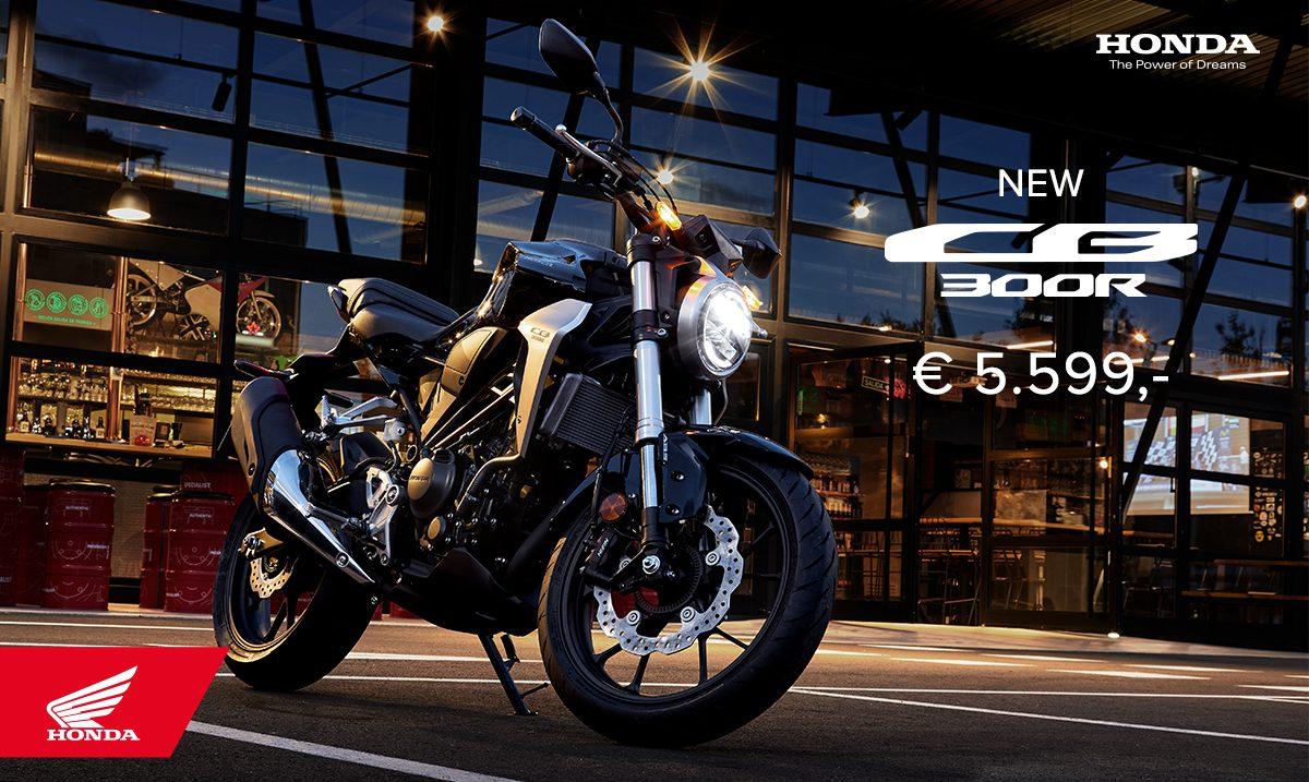 Honda maakt prijzen van de nieuwe CB125R en CB300R bekend