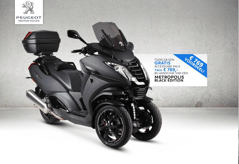 Peugeot Metropolis Black Edition met veel voordeel