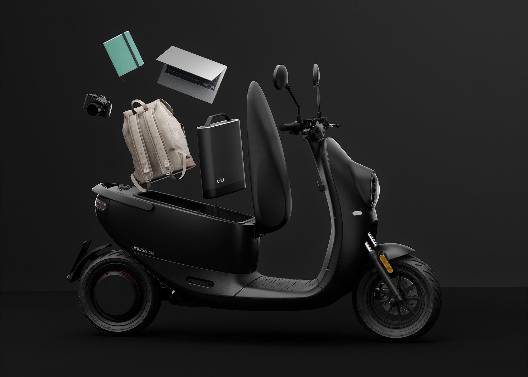 Christian Zanzanotti ontwerpt nieuwe elektrische unu scooter