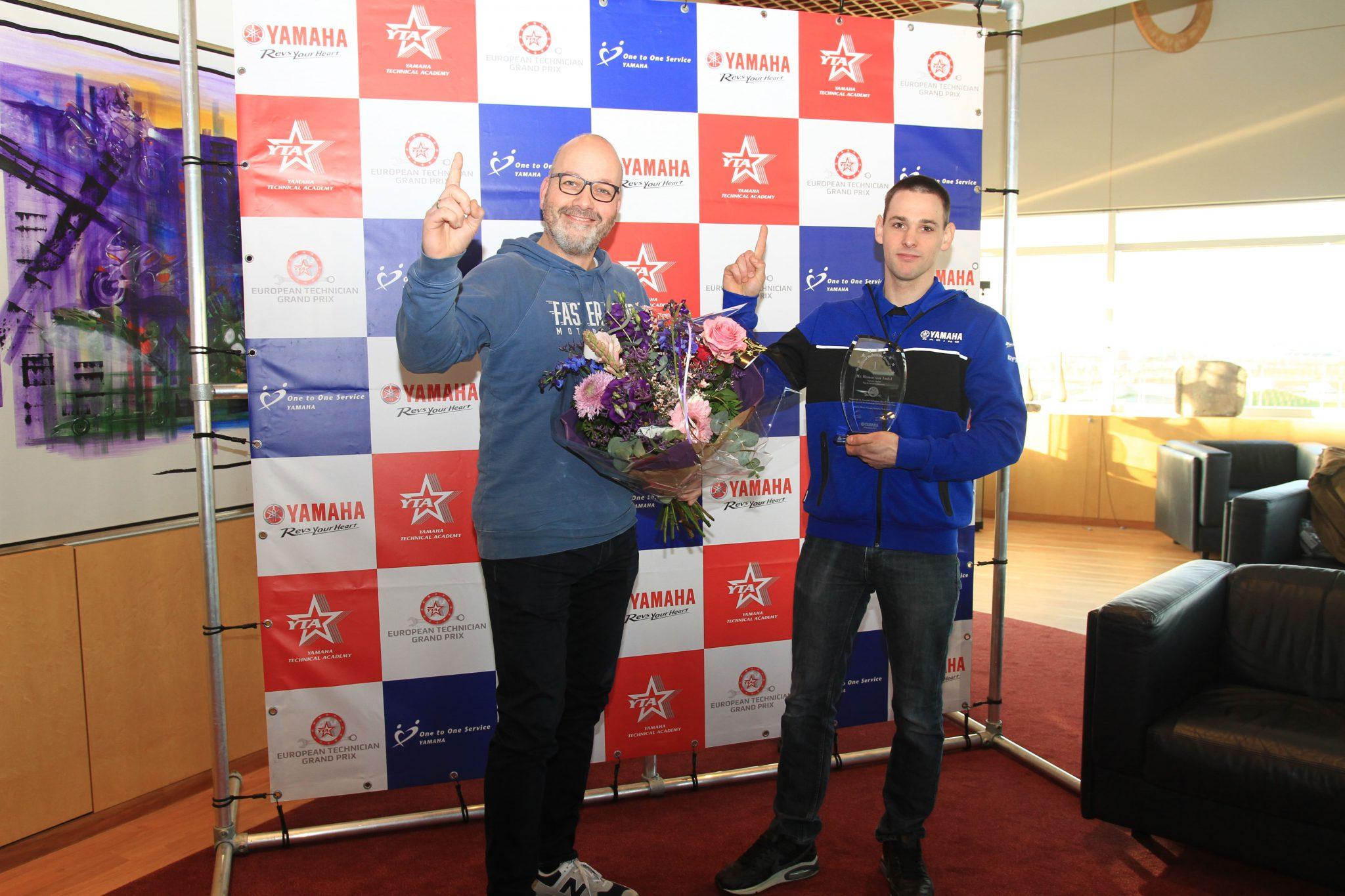 Yamaha-monteur Remco van Andel van Van de Kuinder Motoren wint de National Technician Grand Prix