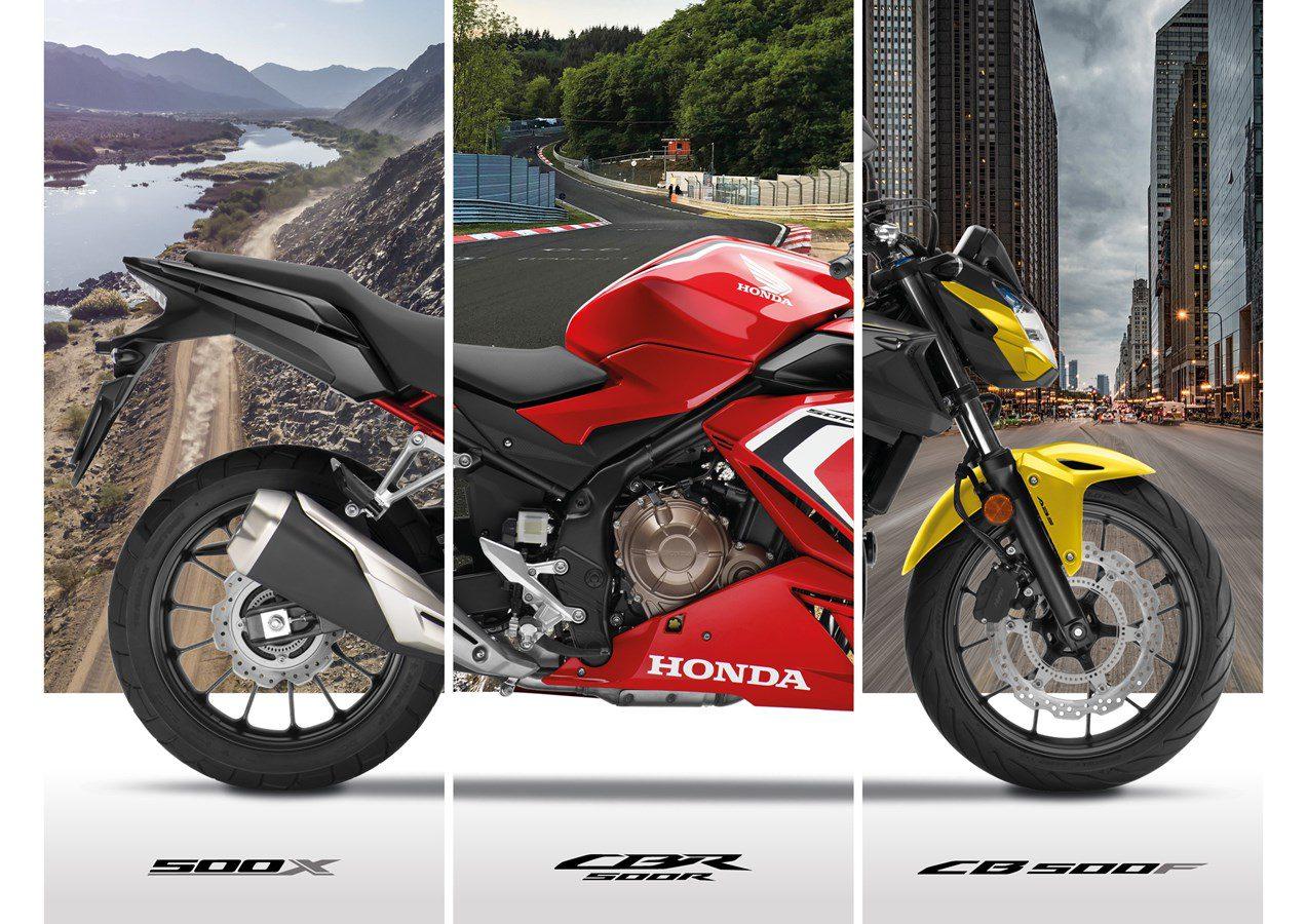 Honda CB500F, CBR500R en CB500X krijgen update
