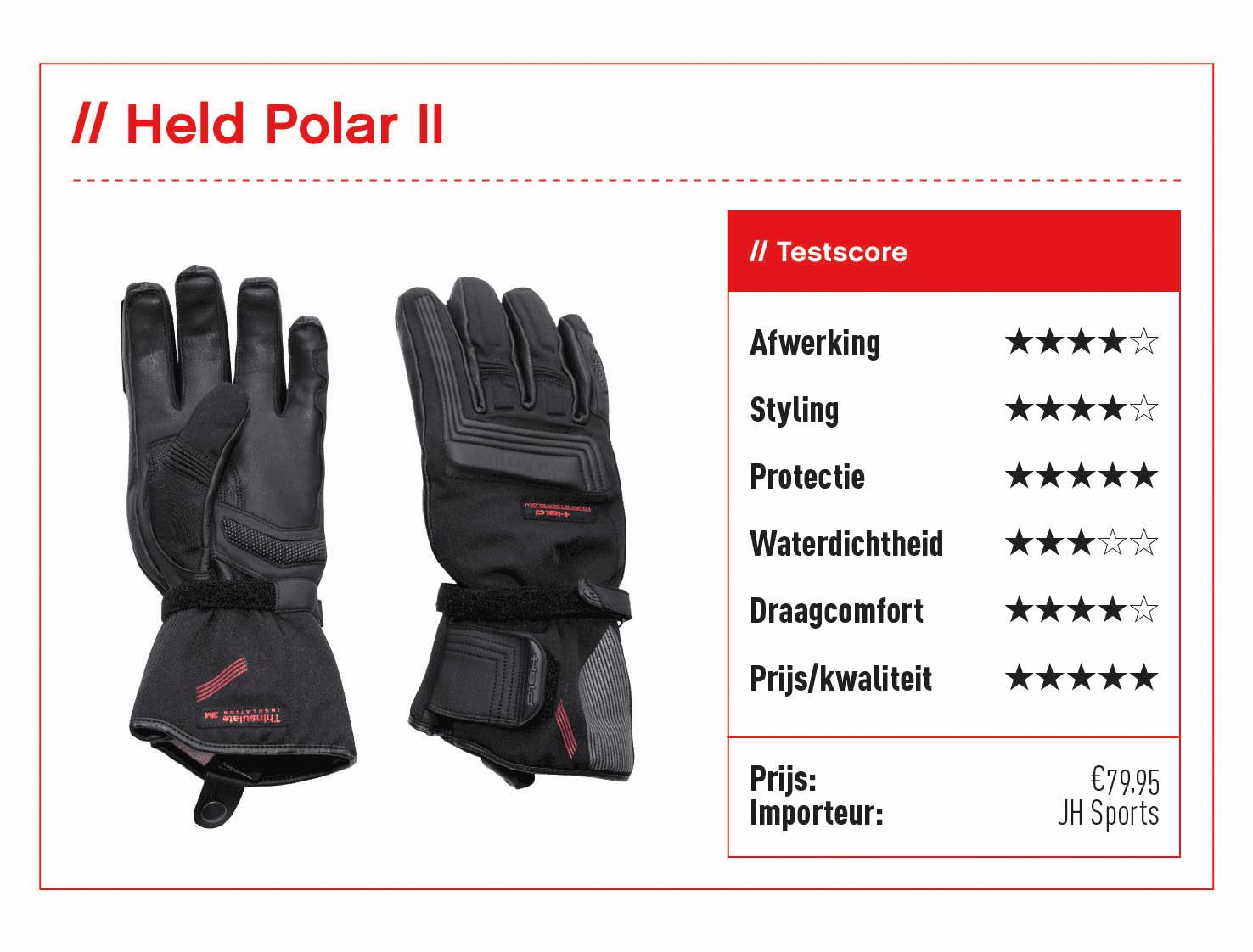 Held Polar II handschoenen met score
