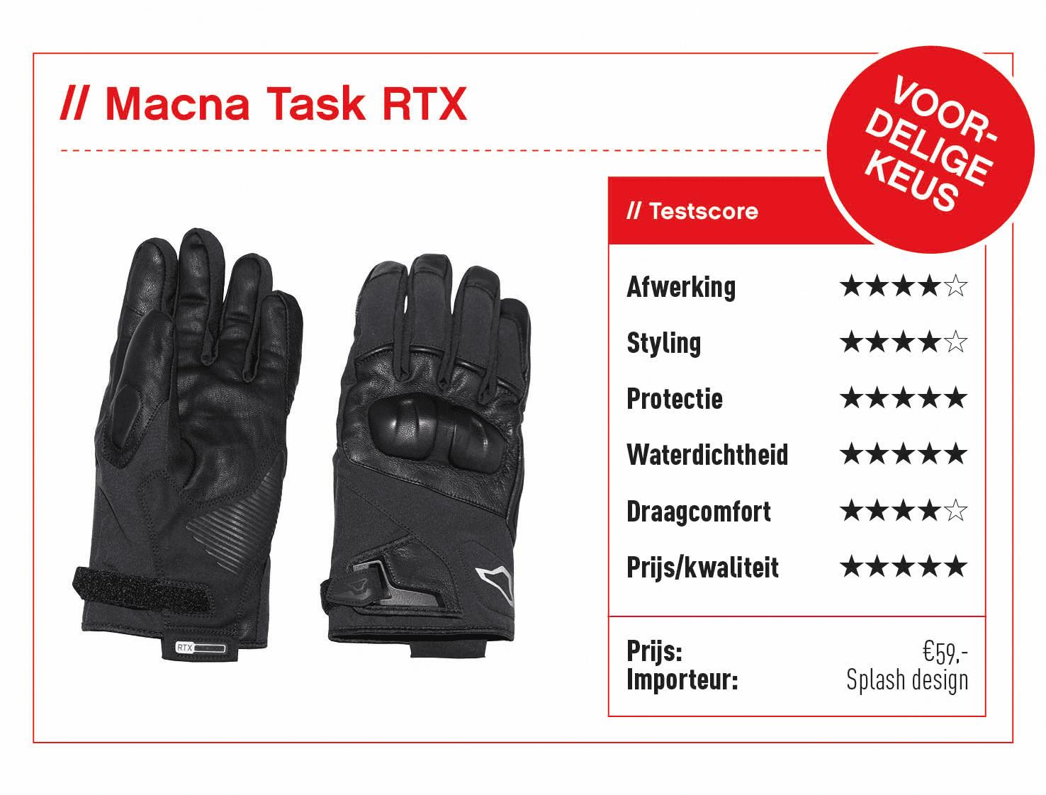 Macna Task RTX handschoenen met score