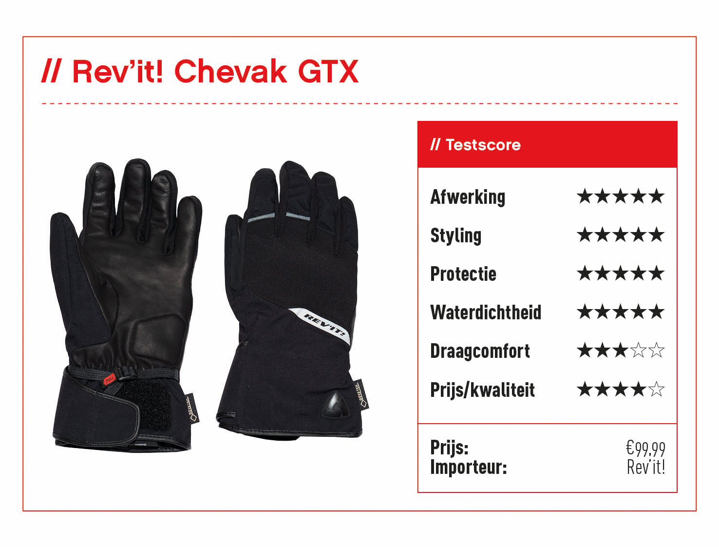 Rev'it! Chevak GTX handschoenen met score