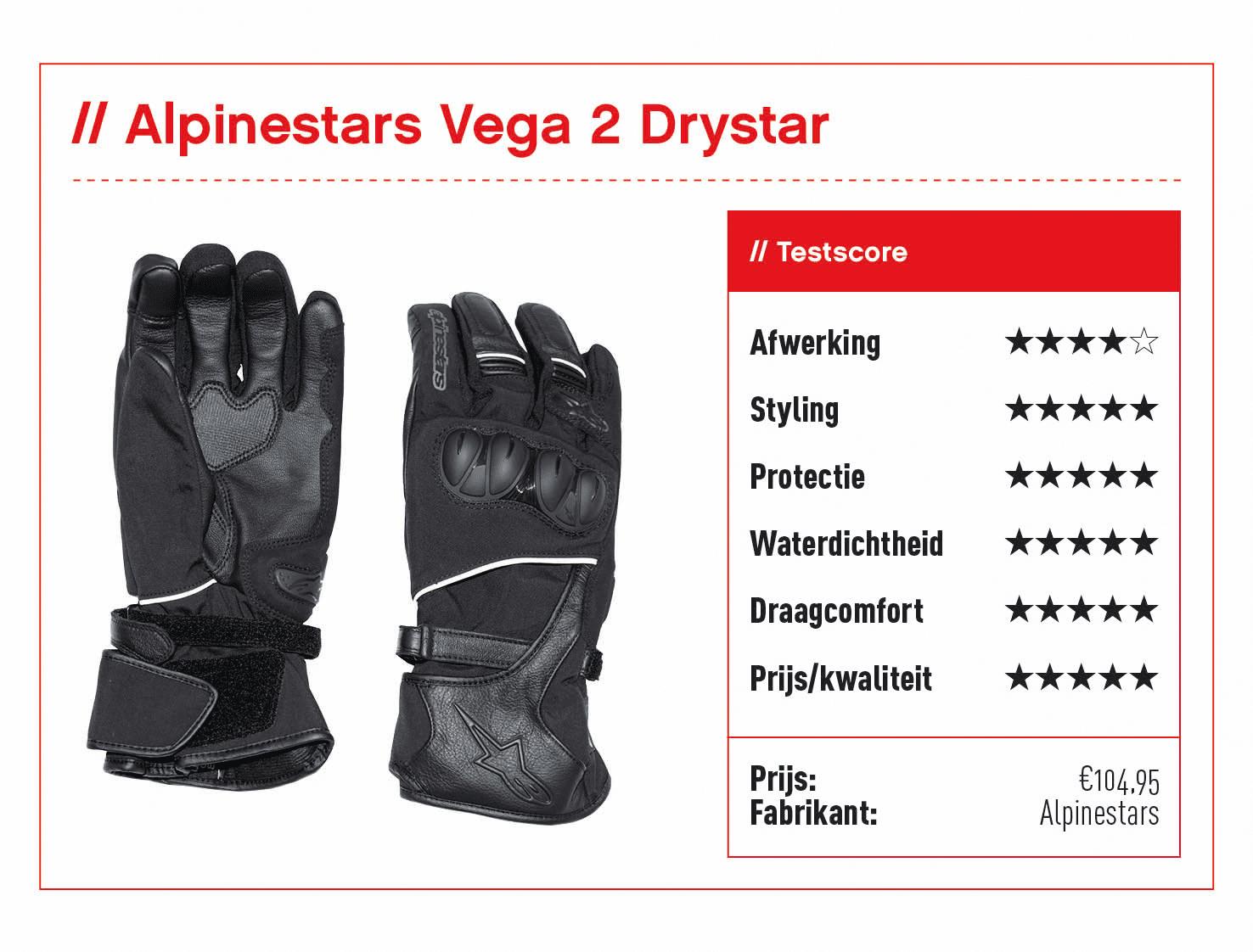 Alpinestars Vega 2 Drystar met score