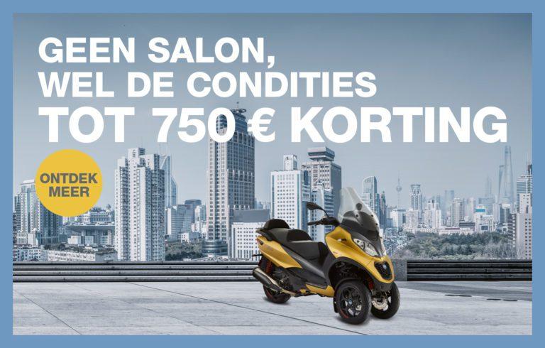 Tot €750,- korting op een Piaggio-Vespa-Moto Guzzi