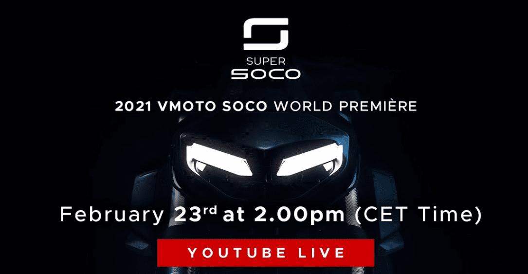 Bekijk: 2021 Vmoto Soco World Première