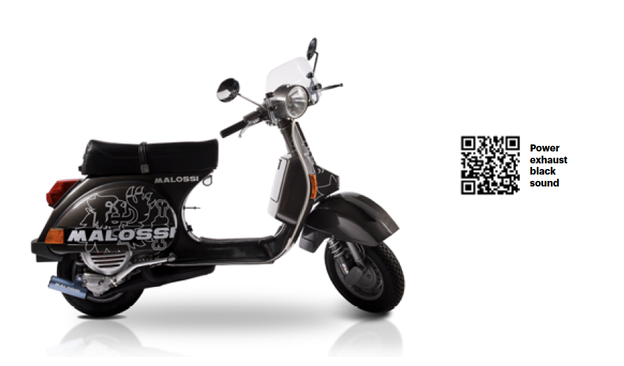 Malossi Power exhaust siert je Vespa PX200