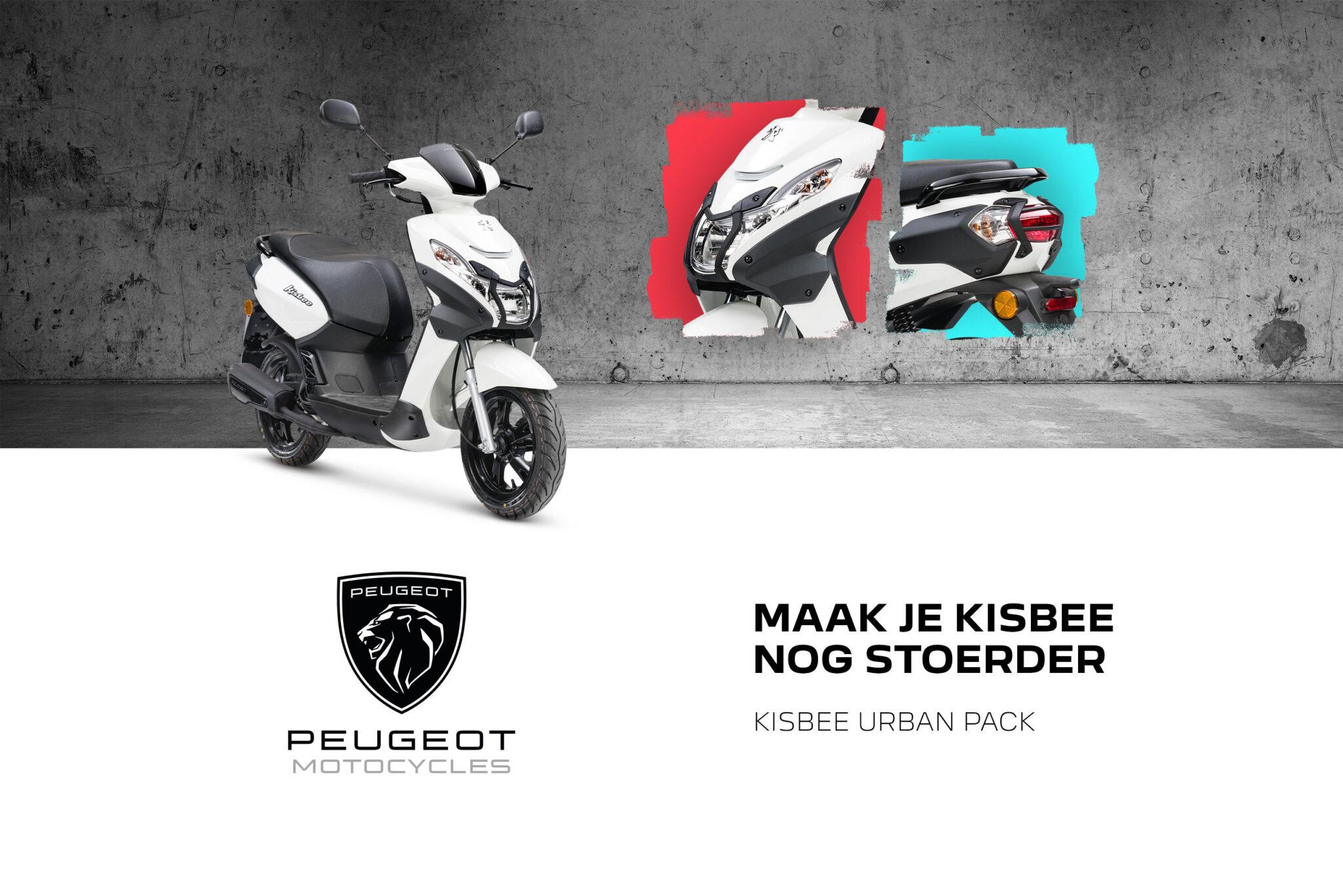 Peugeot Kisbee met dikke Urban Pack