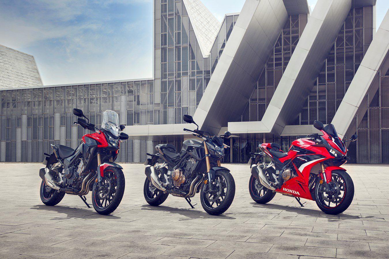 Honda's 500cc-trio krijgt updates voor modeljaar 2022